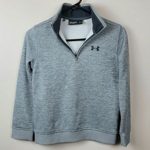 Under Armour Youth Medium Gray Loose Sweater 1/4